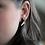 Edgy Earrings, Punk Rock Earrings, Black and Gold Earrings, Geometric Stud Earrings, Polymer Clay Earrings