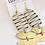 Thumbnail: Pearl & Brass Zebra Stripe Earrings