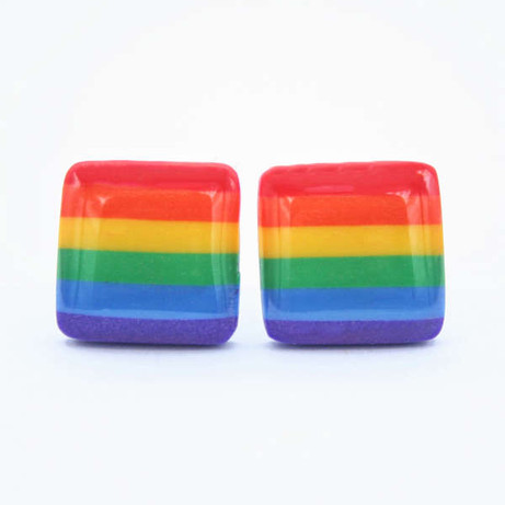 Rainbow Gay Pride Stud Earrings