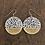 Thumbnail: Polka Dot and 14k Gold Disc Dangle Earrings