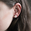 Thumbnail: White and Rose Gold Stud Earrings