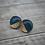 Thumbnail: Midnight Blue & Gold Sparkle Studs