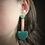Thumbnail: Mint Emerald and Copper Dangle Earrings