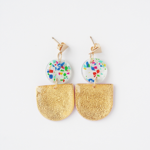 Triangle Confetti Earrings
