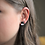 Thumbnail: Black and Silver Square Stud Earrings