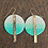 Thumbnail: Turquoise Blue and 14k Gold Disc Dangle Earrings