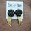 Thumbnail: Abstract Monochrome and Brass Polka Dot Statement Studs