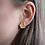 Hexagon Earrings, Mosaic Stud Earrings, Polymer Clay Earrings, Gold Foil Studs