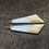 Thumbnail: Long White and Gold Geometric Earrings