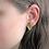 Olive Green Earrings Stud, Gold Flake Earrings, Polymer Clay Earrings, Clay N Wire Jewelry