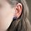 Thumbnail: Cobalt Blue and Gold Semicircle Stud Earrings