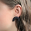Black and white earrings, polka dot earrings, arch stud earrings, titanium earrings, hypoallergenic studs