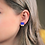 Thumbnail: Cobalt Blue and Gold Stud Earrings