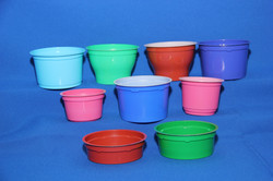 Цветные стаканы и банки d75, d95