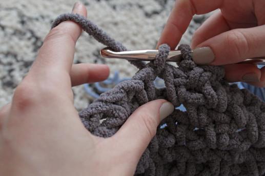 "Crocheting for ""Denim Magnolia"""