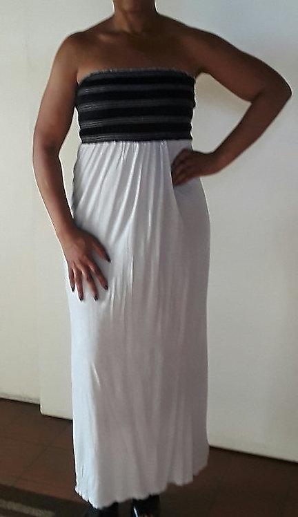 Strapless Smocked Top Tube Dress