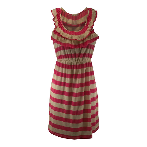 Scoop Neck Ruffle Collar Dress