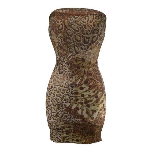 Strapless Spandex Dress