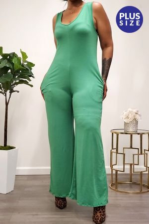 Sleeveless Wide Legs Jumpsuit with Pockets