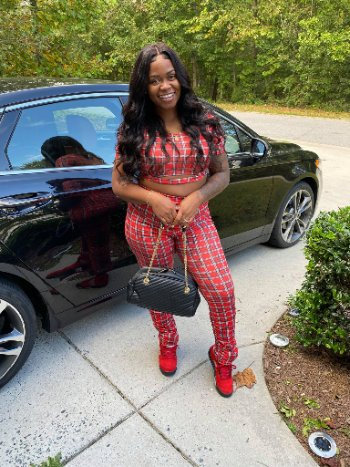Red Plaid Short Sleeve 2 Piece Pants Set