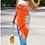 Thumbnail: Orange Sleeveless Bohemian Dress