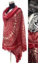 Deer print oversized scarf