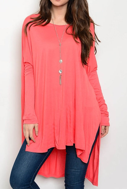 Flowy Long Fitted Sleeve Top
