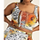 Thumbnail: Orange Cami Crop Top and Skirt Set