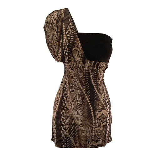 One Shoulder Knit Dress