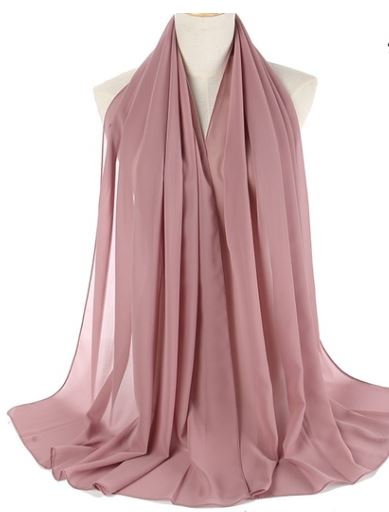 Long Solid Color Thin Scarf