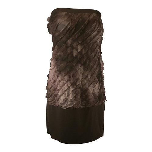 Strapless Ruffle Tiered Mini Tunic Dress