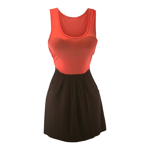 Sleeveless Tank Pocket Mini Dress