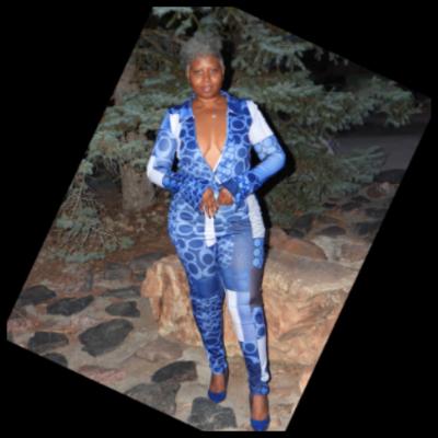 Blue Long Sleeve V Neck 2 Piece Pants Set