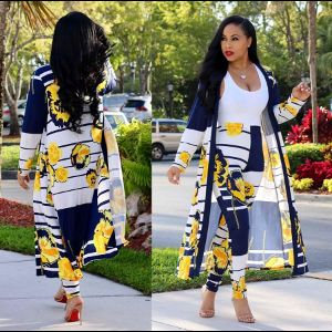 2 Piece Stripe and Floral Duster Set