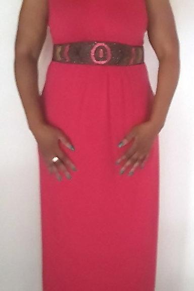 Beaded Waist Maxi Dress