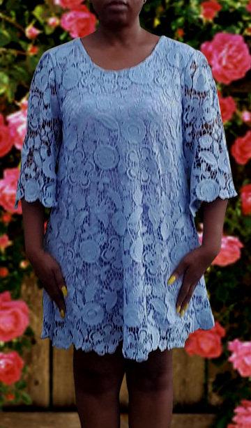 Crochet Linen Tunic