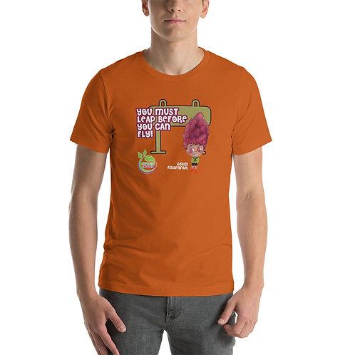 Adam Amaranth Leap Before You Fly Unisex T-Shirt