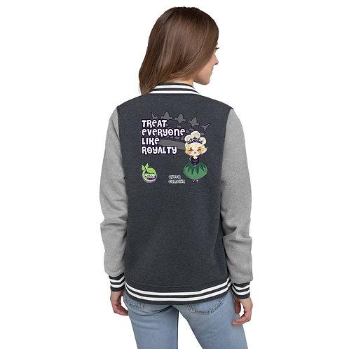 Queen Camellia Women's Letterman Jacket