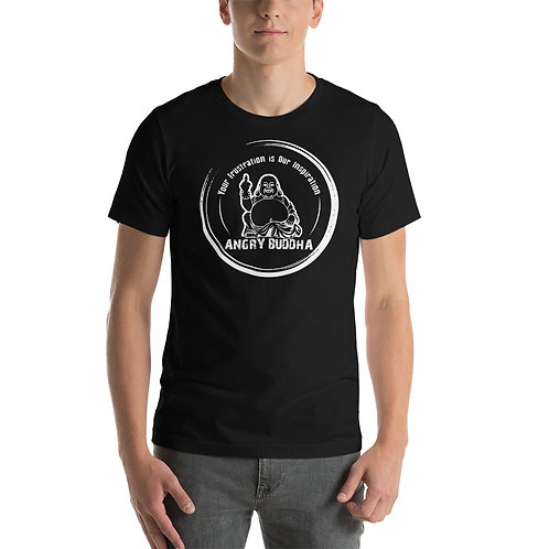 Angry Buddha Logo Short-Sleeve Unisex T-Shirt