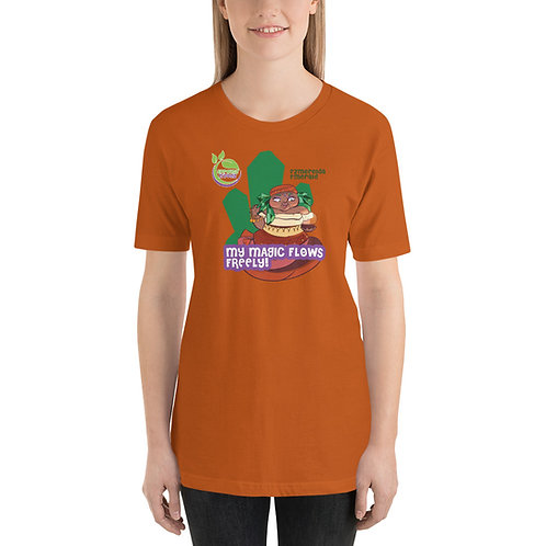 Ezmerelda Emerald Magic Flows Freely Unisex T-Shirt
