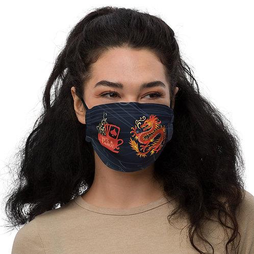Dragon Horoscope Tea & Tarot Logo Face mask