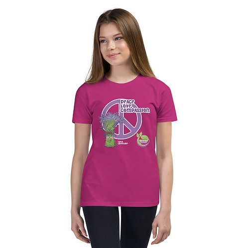 Luna Lavender's Peace, Love & Compassion Youth T-Shirt