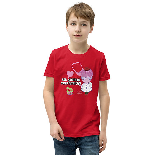 Dr. Edgar Echinacea Eat Healthy, Stay Healthy Youth T-Shirt