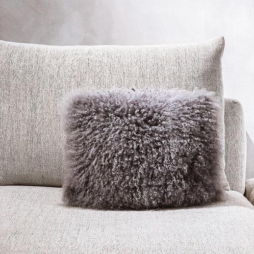 Tibet Lamb Cushion (Small Rectangle)(Dark Grey)