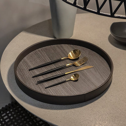 Black & Gold Cutlery Set