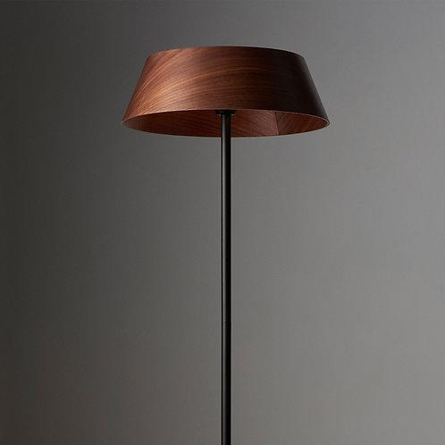 Serene Walnut Floor Lamp