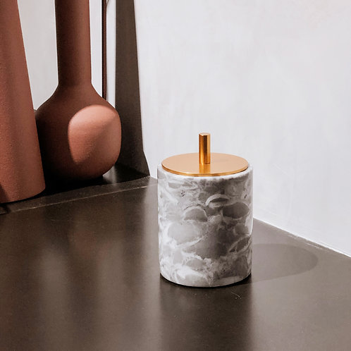 Cylindrical Marble Container