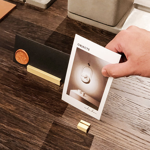 Brass Card Holder