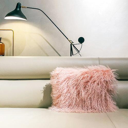 Tibet Lamb Cushion (Small Rectangle)(Pink)
