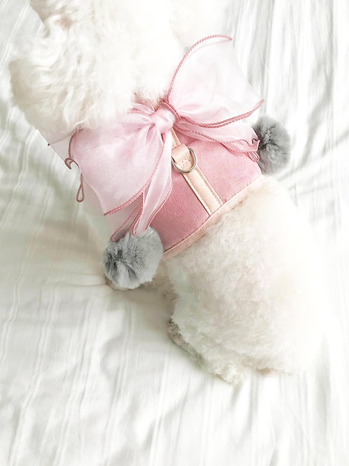 Fairy Bow Harness & Leash Set (Pink)